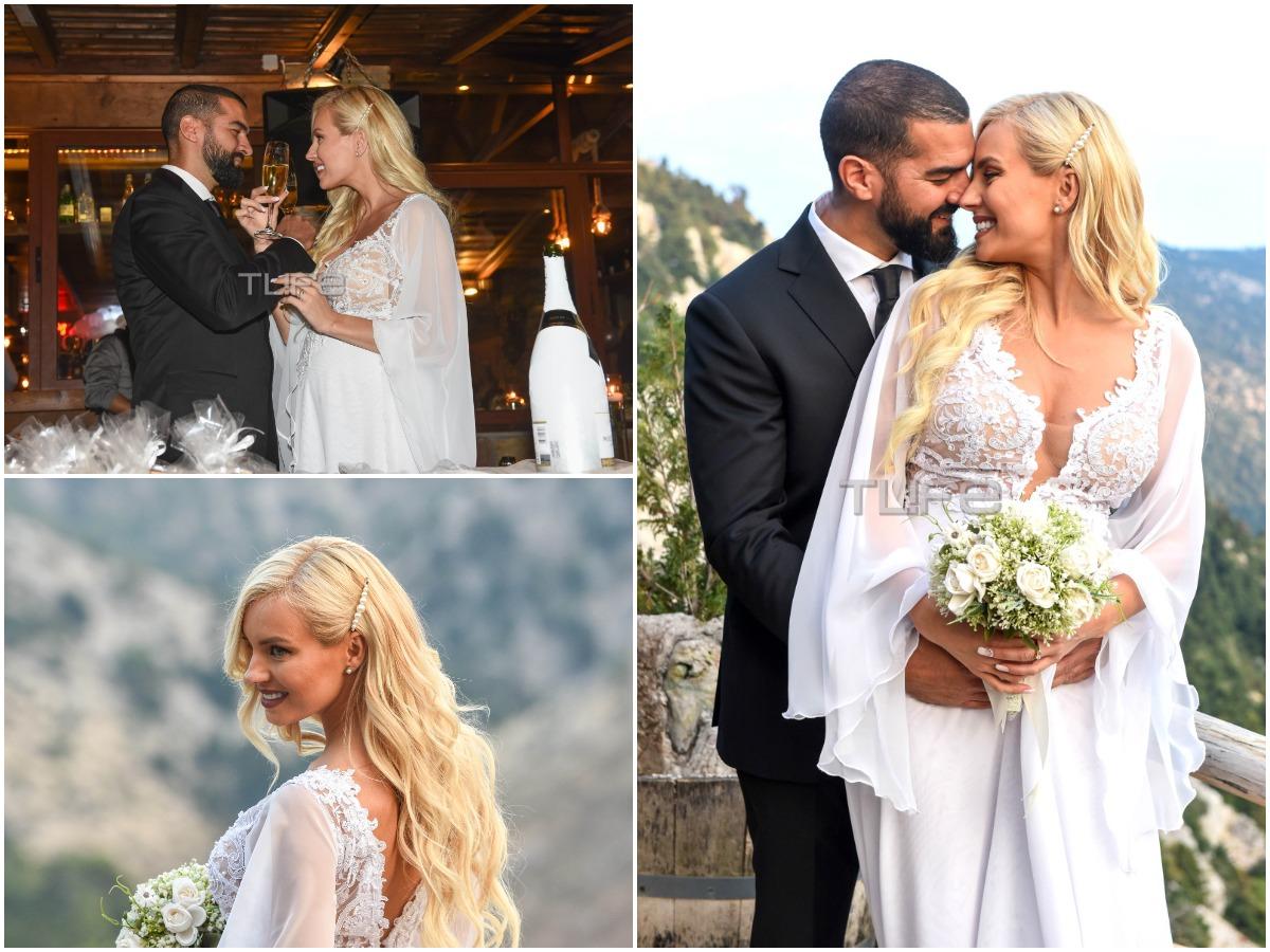 Τζούλια Νόβα – Μιχάλης Βιτζηλαίος: Το φωτογραφικό άλμπουμ από τον γάμο τους στην Πάρνηθα