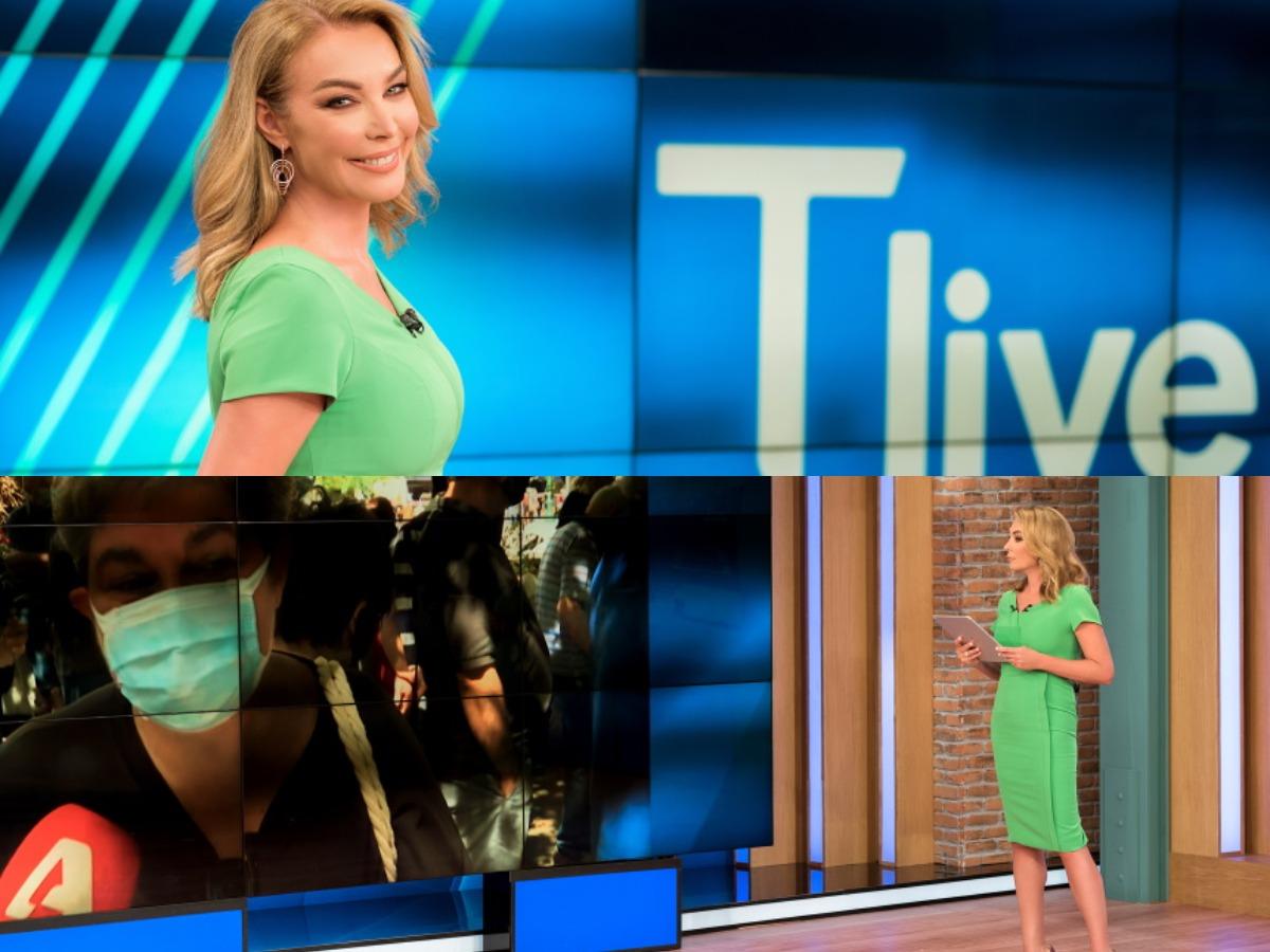 Τατιάνα Στεφανίδου: Backstage φωτογραφίες από τη σημερινή πρεμιέρα του Tlive