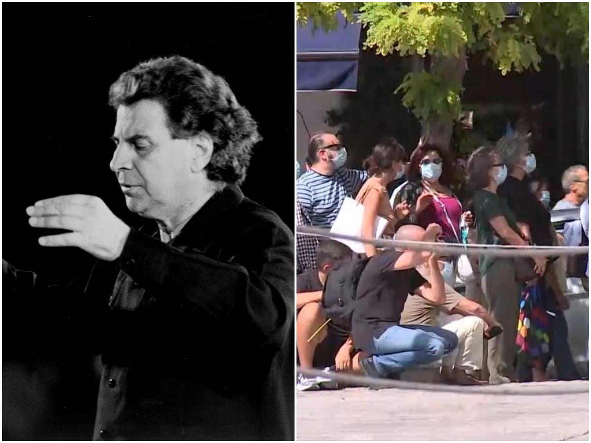 Μίκης Θεοδωράκης: Πλήθος κόσμου στο λαϊκό προσκύνημα για τον μεγάλο μας συνθέτη – Οι πρώτες εικόνες