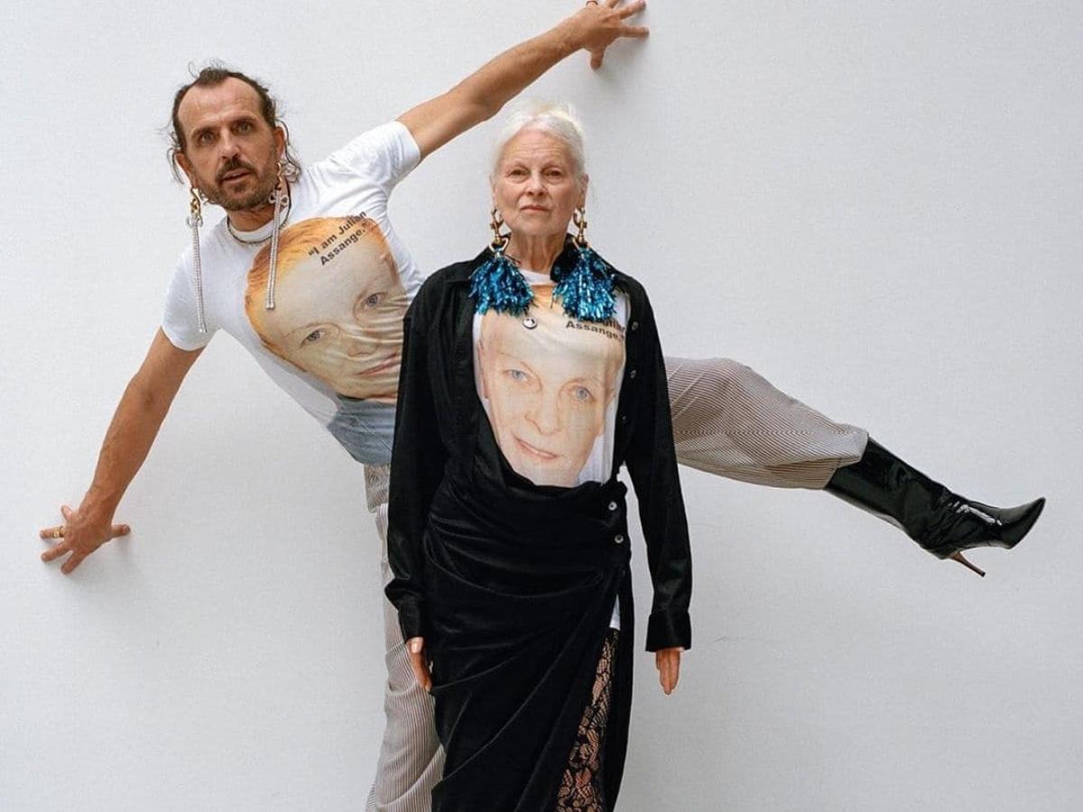 H Vivienne Westwood σε σπάνια κοινή φωτογράφιση με τον σύζυγο της