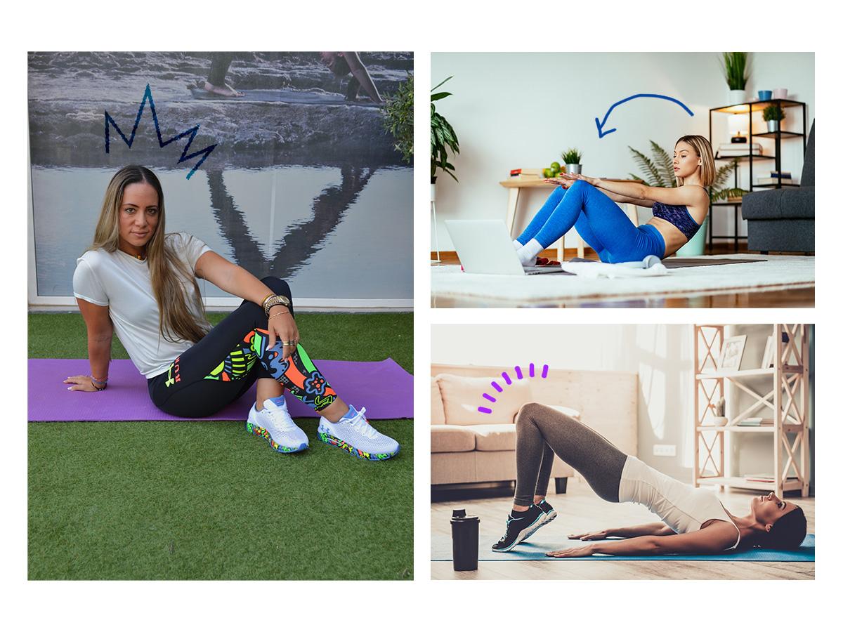 Γυμναστική στο σπίτι: 5 ασκήσεις για τέλειο σώμα από τη Μάντη Περσάκη