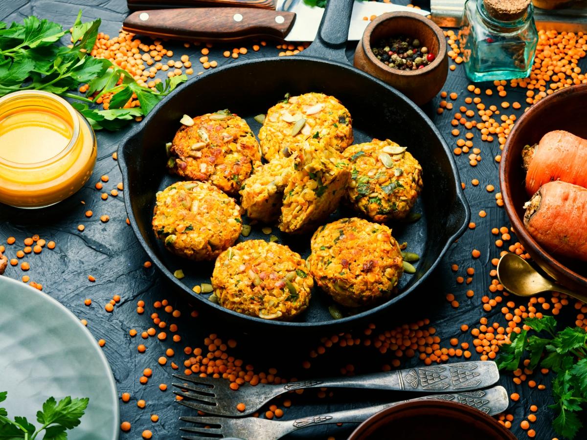 Συνταγή για μπιφτέκια από φακές