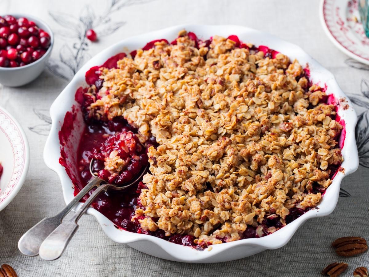Συνταγή για κραμπλ μήλου με cranberries